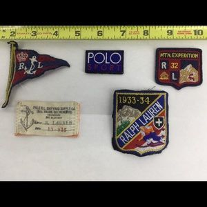 POLO RALPH LAUREN SEW ON PATCHES 5 LOT
